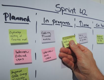 agile - lean - scrum board